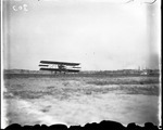 Burgess-Wright biplane taking off at the Harvard-Boston Aero Meet, August - September, 1911