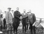 Claude Grahame-White wins 10,000 dollar prize at the Harvard-Boston Aero Meet, September, 1910