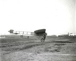 Claude Grahame-White flying a Bleriot monoplane at the Harvard-Boston Aero Meet, September, 1910