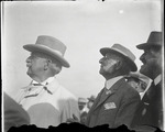 Three distinguished spectators at the Harvard-Boston Aero Meet, August - September, 1911