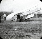 Wreck of triplane at the Harvard-Boston Aero Meet, September, 1910