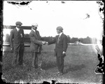 Anthony Philpott with Lincoln Beachey and Harry Atwood at the Harvard-Boston Aero Meet, August - September, 1911 by Anthony Philpott