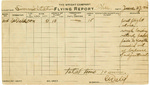 Flight Log from Charles Wald During Training at Simms Station, Ohio, 1912 by Charles Wald