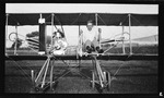 Howard Gill at the Controls of a Wright Model EX Airplane ca. 1910