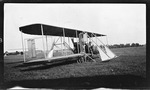 Charles Wald at the Controls of a Wright Model B at Huffman Prairie, 1911