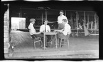 Clifford Turpin, Thomas DeWitt Milling, Oscar Brindley, and John Rodgers Playing Cards at Huffman Prairie, 1911