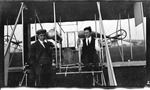 Arthur Welsh and Charles Wald by a Wright Model B Flyer, 1912