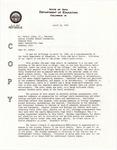 Copy of Letter, 1961 April 12, [E. E. Holt] to Walter Lewis, Jr. by E. E. Holt