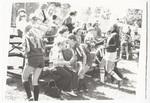 Bleachers at a girls' soccer game
