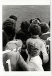 Boys' soccer team crowded together