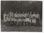 Boys' soccer team posing