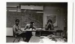Staff eating at desks
