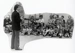 Joe Zaluski speaking to students