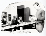 Mr. McCaslin and students in a classroom