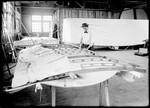 Employee Working on Wing of Airplane at Wright Company Factory