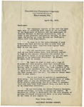 Letter, 1919, April 29, Baltimore Process Company to Breweries by Baltimore Process Company