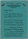 Letter, Hemrich's Staff Products Company to Alt Brothers Brewing Company by Hemrich's Staff Products Company