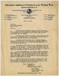 Letter, R. W. Lynch to Fred Olt