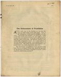The Enforcement of Prohibition