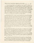 Typed transcript of closing account of James F. Overholser by James F. Overholser