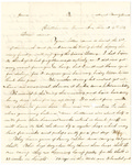 Letter, 1864 August 4, James F. Overholser to Aunt [Mary Burns] by James F. Overholser