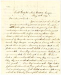 Letter, 1864 May 18, James F. Overholser to Aunt and Uncle [Mary and Crib Burns] by James F. Overholser
