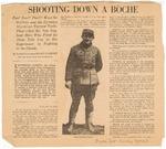Shooting Down A Boche