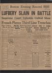 Lufbery Slain in Battle