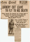 Lufbery Cut Leave to Fly to His Death
