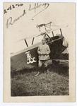 A Portrait of Major Raoul Lufbery with Biplane