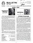 Bulletin - April, 1985