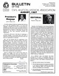 Bulletin - August, 1987