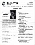 Bulletin - January, 1990 by Civil Aviation Medical Association