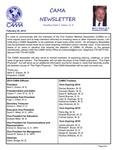 CAMA Newsletter - February, 2014