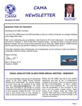 CAMA Newsletter - December, 2014