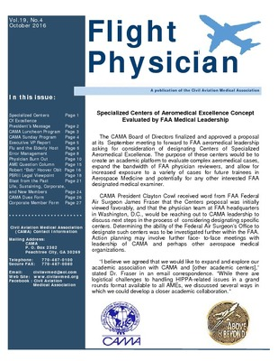 Browse All Civil Aviation Medical Association Newsletters Civil