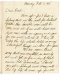 Letter, 1918 October 7, Topsy (alias) Berthe [Berthe Eller] to Fred [Fred F. Marshall]