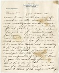 Letter, Fred F. Marshall to Dearest [Henriette]