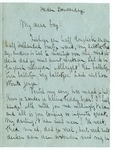 Letter, Dorothy to My dear boy [Fred F. Marshall]