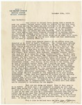Letter, 1919 November 20, Unknown to Marshall [Fred F. Marshall]