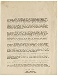 Letter, Fred F. Marshall to Unknown