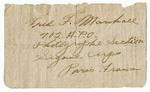 Fred F. Marshall Address
