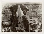 Aerial view of the Champs-Élysées from Arc de Triomphe