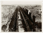 Aerial view of Bastille Day from Arc de Triomphe