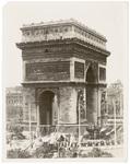Closeup of the Arc de Triomphe