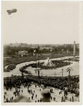 Aerial view of the victory celebration at the Place de la Concorde