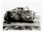 "Men examining German ""Sturmpanzerwagen"""