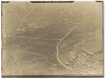 Aerial view of damage to Étraye