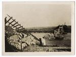 Ruins of a railroad bridge