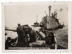 U.S.S. Rambler with anti-submarine gun